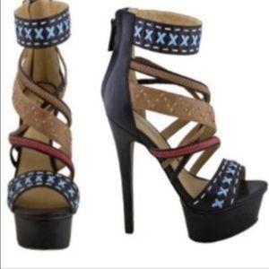 Zigi Soho Leader Platform Strap Sandal size 8